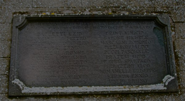 the plaque outside the church