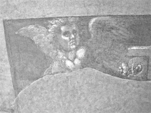 Chiostro dello Scalzo, fresco series in tones of gray