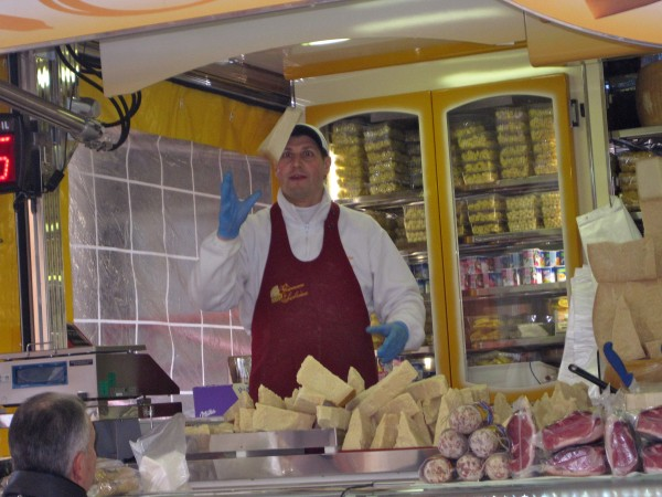 the cheese man, you will meet him at the local market