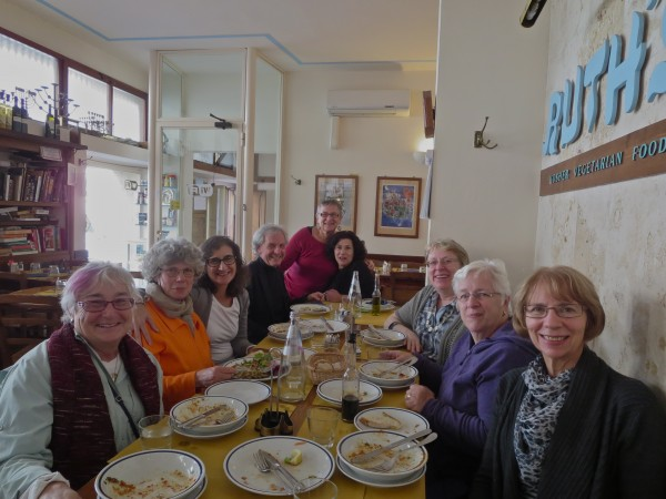 Eating lunch at Ruth's in Florence