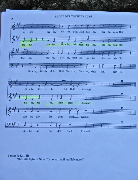 some of the music  the choir works on last night