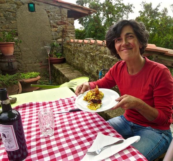 Barbara enjoye her lunch