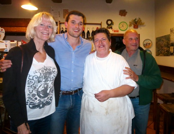 A great dinner with local chef, Emilia, in Poggio alla Croce