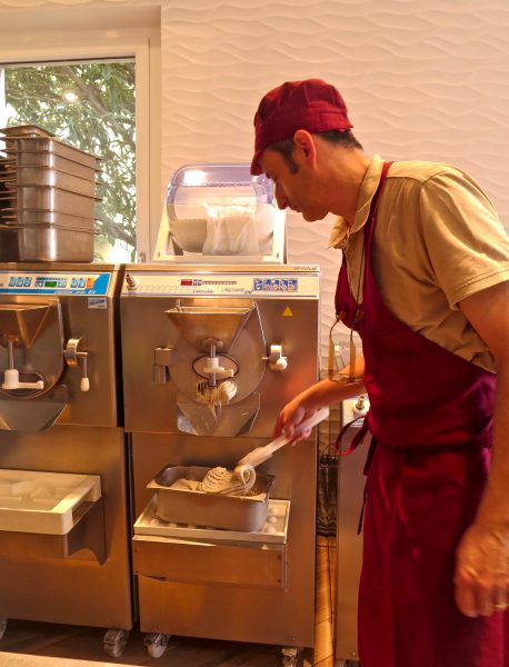 Our pastachio gelato is almost ready!