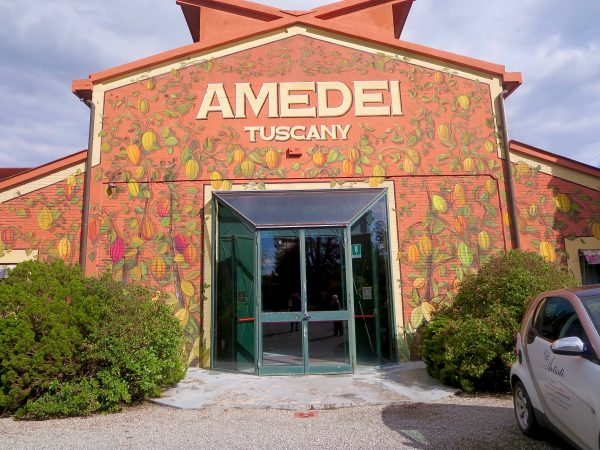 The entrance to Amedi, the start of our amazing chocolate experience