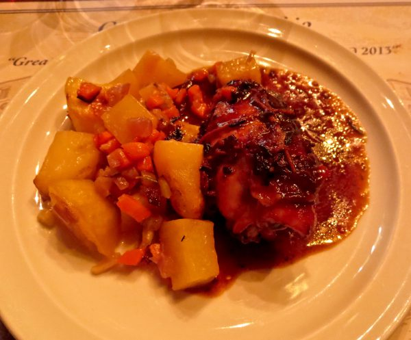 Our chicken and potato dish