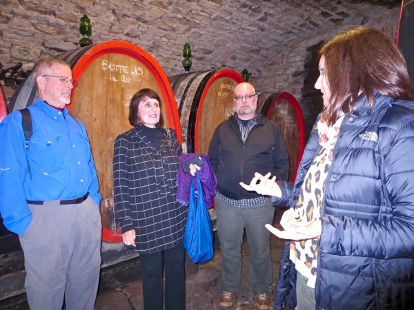 In the cellars with Marta